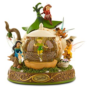 Disney Fairies Teapot Tinker Bell Snow Globe
