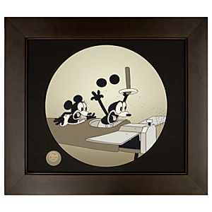 Framed Limited Edition ''Plane Crazy'' Mickey Mouse Cel