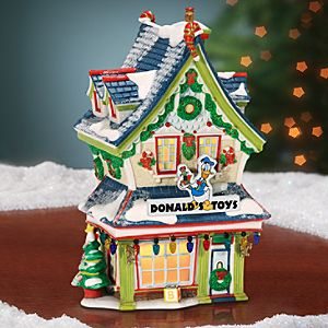 Light-Up Donalds Toy Shop Building by Dept. 56