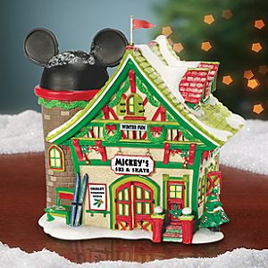 Light-Up Mickeys Ski and Skate Chalet Building by Dept. 56