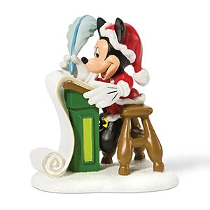 Checking the List Mickey Mouse Figurine by Dept. 56