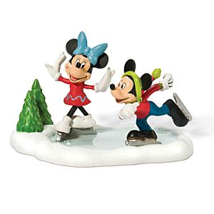 Skating on Ice Minnie and Mickey Mouse Figurine by Dept. 56
