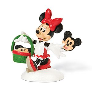 Minnies Custom Christmas Cookies Minnie Mouse Figurine by Dept. 56