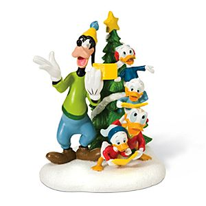 Christmas Carols Donald Duck, Nephews and Goofy Figurine by Dept. 56