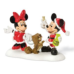 Treats for Fifi Minnie and Mickey Mouse Figurine by Dept. 56