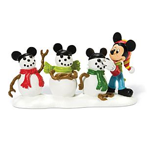 The Three Mouseketeers Mickey Mouse Figurine by Dept. 56