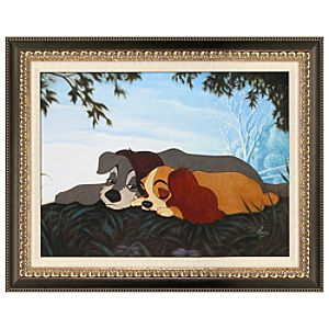 Framed Limited Edition ''My Sweet Lady'' Lady and the Tramp Giclée