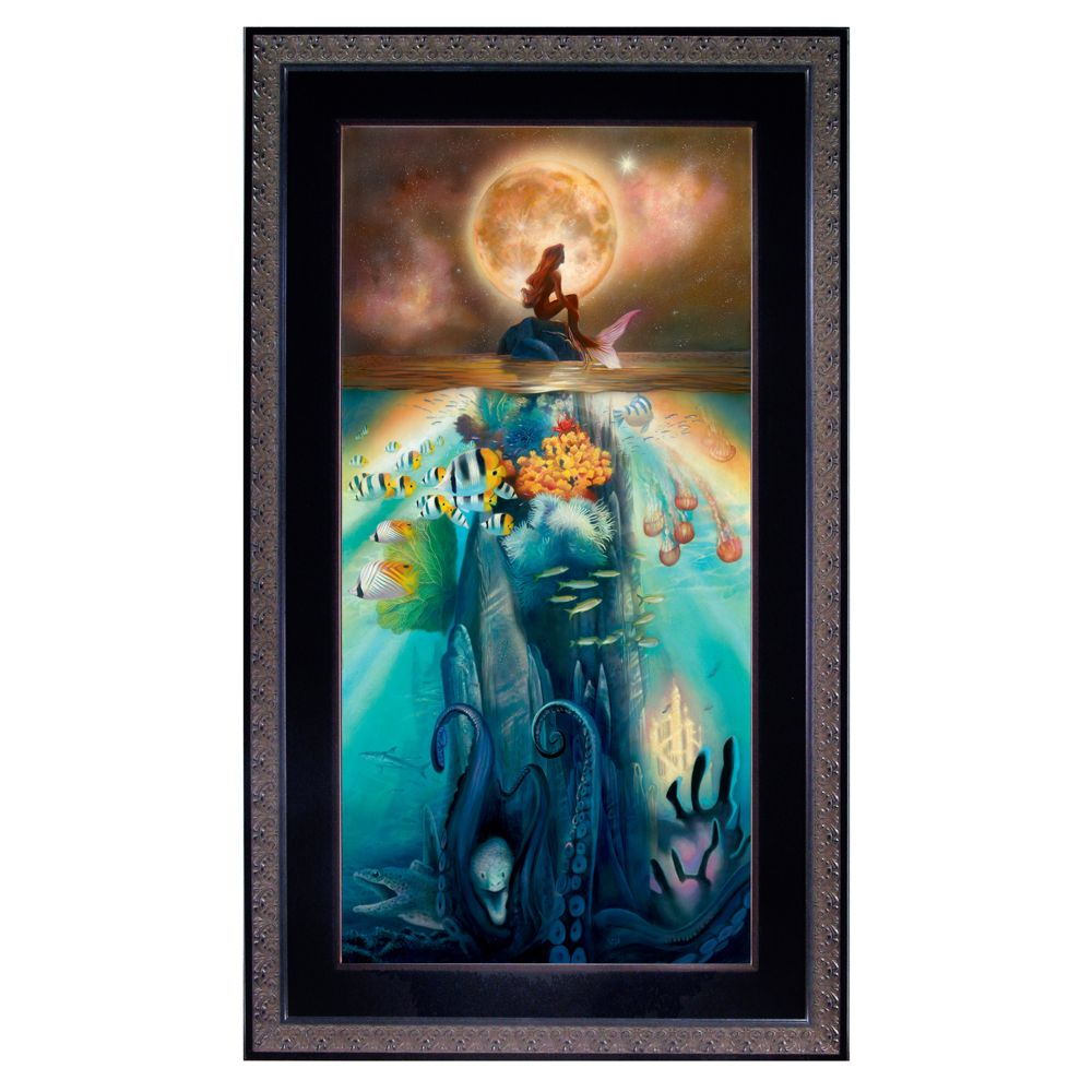 Framed Limited Edition ''Fathoms Below'' The Little Mermaid Giclée