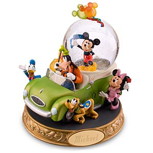 Personalized Celebrate! Mickey Mouse Snowglobe