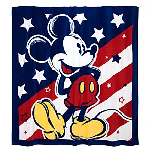 Jumbo Red, White and Mickey Mouse Towel