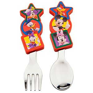 Mickey Mouse Clubhouse Flatware Set -- 2-Pc.