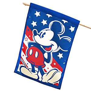 Red, White and Mickey Mouse Flag
