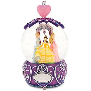 Personalized Crown Disney Princess Snowglobe
