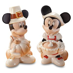 Thankful Feast Minnie and Mickey Mouse Salt and Pepper Set