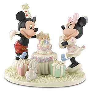 Mickeys Birthday Celebration Minnie and Mickey Mouse Figurine by Lenox
