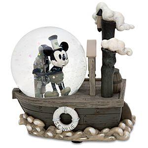 Mini Steamboat Willie Mickey Mouse Snowglobe
