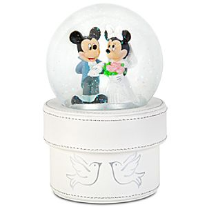 Minnie and Mickey Mouse Wedding Snowglobe Gift Box