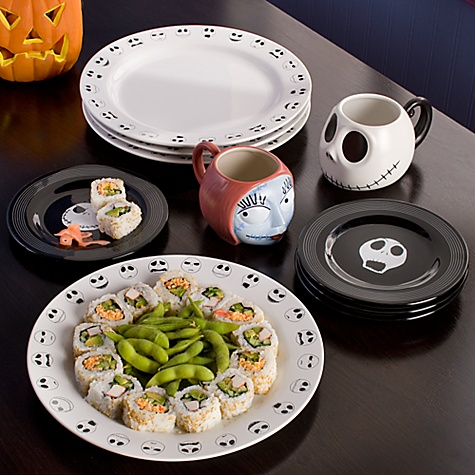 Jack Skellington Plate Set -- 7'' -- 4-Pc.