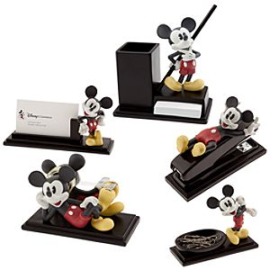 Color Mickey Mouse Desk Set -- 5-Pc.