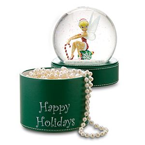 Happy Holidays Tinker Bell Snowglobe Gift Box