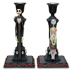 Tim Burtons The Nightmare Before Christmas Candlestick Set -- 2-Pc.