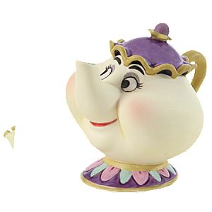 WDCC Tea-Toting Twosome Mrs Potts and Chip Figurine Set -- 2-Pc. Enchanted Size