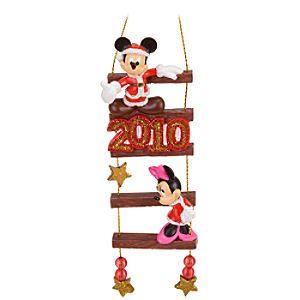 2010 Ladder Minnie and Mickey Mouse Ornament