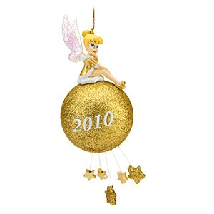 2010 Gold Glitter Tinker Bell Ornament