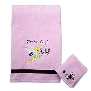 Personalized Tinker Bell Towel Set -- 2-Pc.