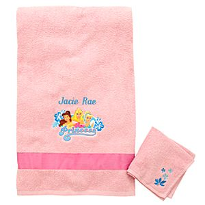 Personalized Disney Princess Towel Set -- 2-Pc.