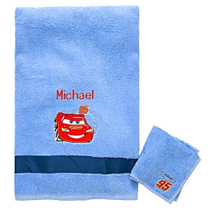 Personalized Lightning McQueen Towel Set -- 2-Pc.