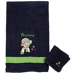 Personalized Buzz Lightyear Towel Set -- 2-Pc.