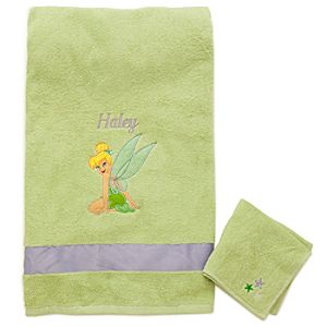 Personalized Fairies Tinker Bell Towel Set -- 2-Pc.