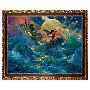 ''Sorcerer Symphony'' Mickey Mouse Gicl�e on Canvas by James Coleman - Framed