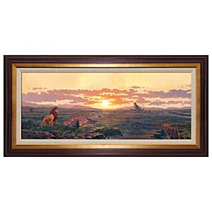 Limited-Edition Framed ''Kingdom Pride'' The Lion King Giclée on Canvas by Rodel Gonzalez