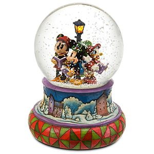 A-Caroling We Will Go Mickey Mouse Snow Globe by Jim Shore