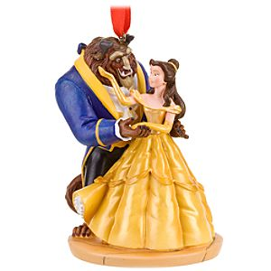Dancing Beast and Belle Ornament