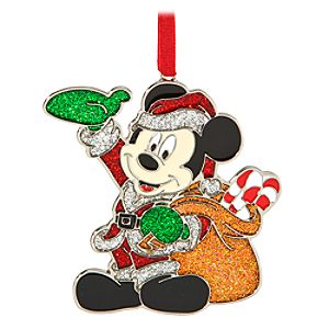 Personalized Santa Mickey Mouse Ornament