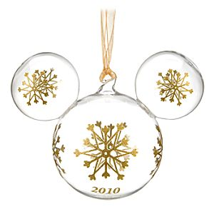 2010 Glass Mickey Mouse Icon Ornament