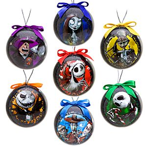 Tim Burtons The Nightmare Before Christmas Decoupage Ornament Set -- 7-Pc.