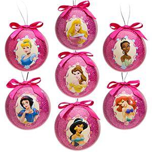 Disney Princess Decoupage Ornament Set -- 7-Pc.