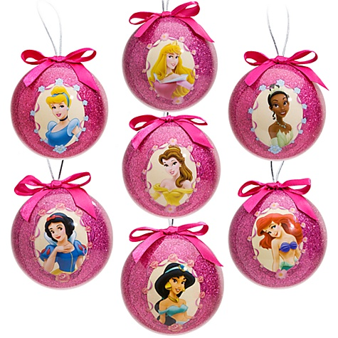 Disney Princess Decoupage Ornament Set -- 7-Pc.