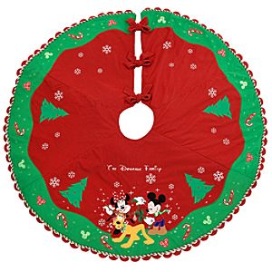 Personalized Mickey Mouse and Friends Holiday Tree Skirt