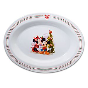 Holiday Mickey Mouse Serving Platter