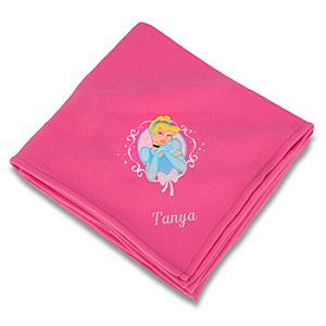 Personalized Cinderella Fleece Throw Blanket