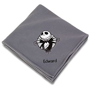 Personalized Jack Skellington Fleece Throw Blanket