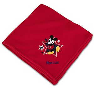 Personalized Mickey Mouse Fleece Throw Blanket