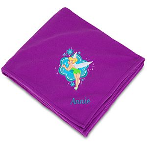 Personalized Tinker Bell Fleece Throw Blanket
