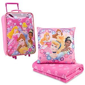 Rolling Princess Luggage, Pillow & Blanket Set