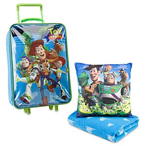 Rolling Toy Story Luggage, Pillow & Blanket Set